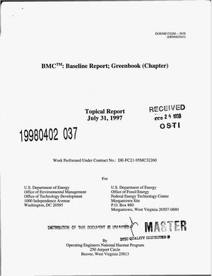 Primary view of object titled 'BMC{trademark}: Baseline report; Greenbook (chapter)'.