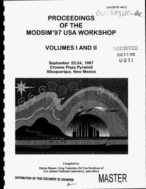 Primary view of object titled 'Proceedings of the ModSim`97 USA workshop. Volumes 1 and 2'.