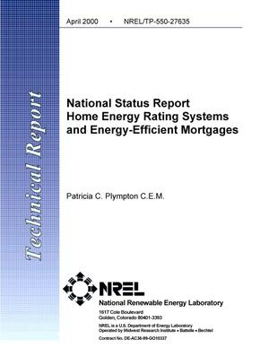 Primary view of object titled 'National status report: Home energy rating systems and energy-efficient mortgages'.