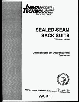 Primary view of object titled 'Innovative technology summary report: Sealed-seam sack suits'.