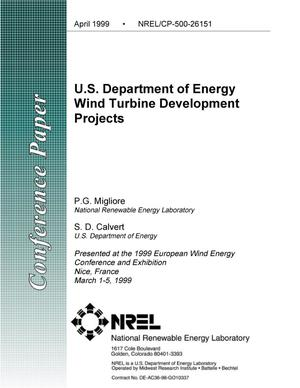 Primary view of object titled 'U.S. Department of Energy Wind Turbine Development Projects'.
