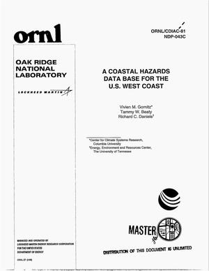 Primary view of object titled 'A coastal hazards data base for the U.S. West Coast'.