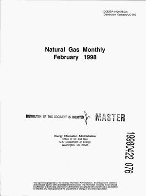 Primary view of object titled 'Natural gas monthly, February 1998'.