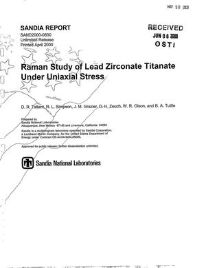 Primary view of object titled 'Raman study of lead zirconate titanate under uniaxial stress'.