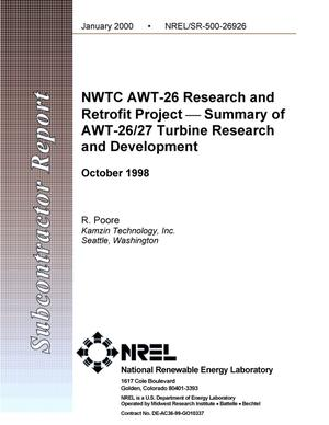 Primary view of object titled 'NWTC AWT-26 research and retrofit project-summary of AWT-26/27 turbine research and development'.