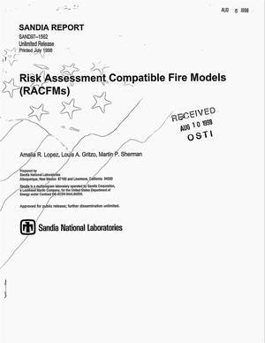 Primary view of object titled 'Risk assessment compatible fire models (RACFMs)'.