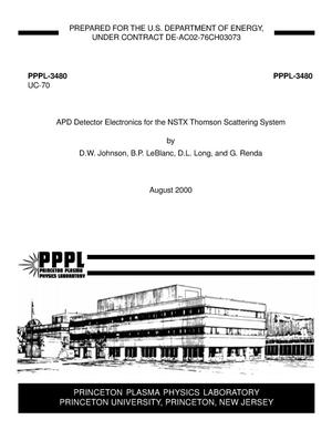 Primary view of object titled 'APD detector electronics for the NSTX Thomson scattering system'.