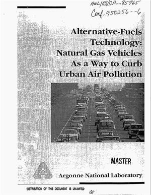 Primary view of object titled 'Alternative-fuels technology: Natural gas vehicles as a way to curb urban air pollution'.