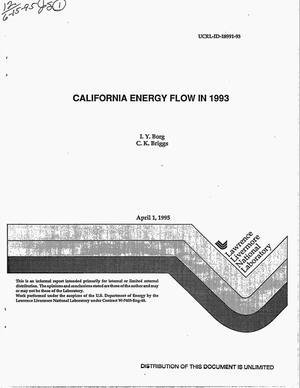 Primary view of object titled 'California energy flow in 1993'.