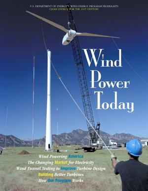 Primary view of object titled 'Wind power today: 1999 Wind Energy program highlights'.