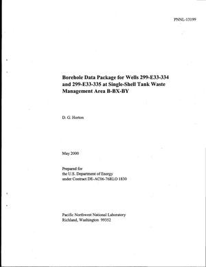 Primary view of object titled 'Borehole data package for wells 299-E33-334 and 299-E33-335 at single-shell tank waste management Area B-BX-BY'.