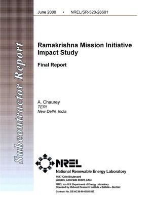 Primary view of object titled 'Ramakrishna Mission initiative impact study: final report'.