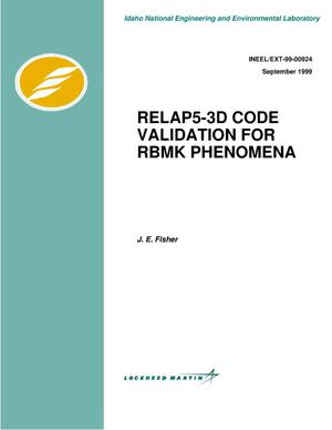 Primary view of object titled 'RELAP5-3D code validation for RBMK phenomena'.