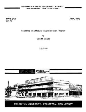 Primary view of object titled 'Road map for a modular magnetic fusion program'.