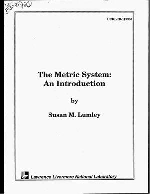 Primary view of object titled 'The metric system: An introduction'.