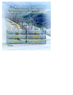 Primary view of object titled 'Aquatic Ecosystem Enhancement at Mountaintop Mining Sites Symposium'.