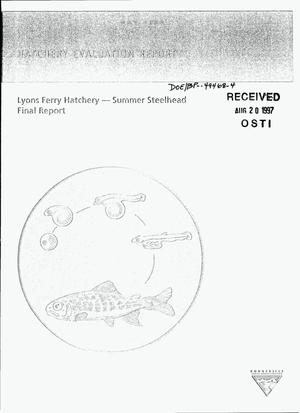 Primary view of object titled 'Lynch Ferry Hatchery - Summer Steelhead, Final Report'.