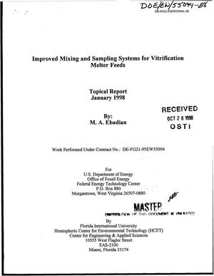 Primary view of object titled 'Improved mixing and sampling systems for vitrification melter feeds'.