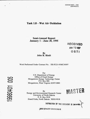 Primary view of object titled 'Task 1.8 -- Wet air oxidation. Semi-annual report, January 1--June 30, 1995'.