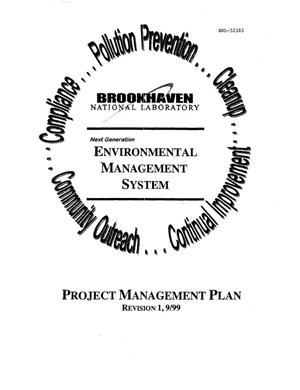 Primary view of object titled 'ENVIRONMENTAL MANAGEMENT SYSTEM PROJECT MANAGEMENT PLAN'.