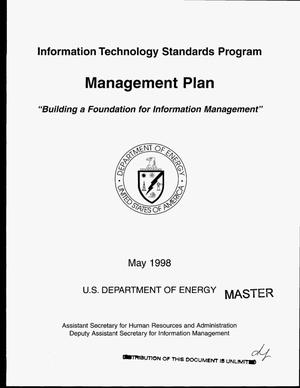 Primary view of object titled 'Information Technology Standards Program management plan'.