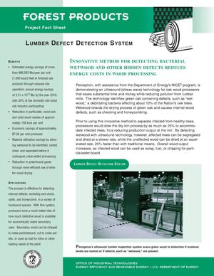 Primary view of object titled 'Lumber defect detection system: Forest products project fact sheet'.