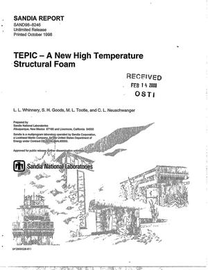 Primary view of object titled 'TEPIC -- A new high temperature structural foam'.