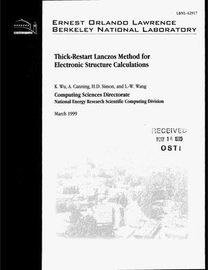 Primary view of object titled 'Thick-Restart Lanczos Method for Electronic StructureCalculations'.