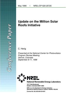 Primary view of object titled 'Update on the Million Solar Roofs Initiative'.