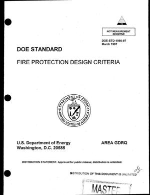 Primary view of object titled 'Fire protection design criteria'.