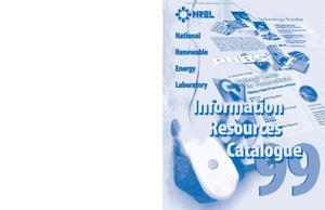 Primary view of object titled 'NREL Information Resources Catalogue 1999'.