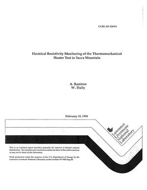 Primary view of object titled 'Electrical resistivity monitoring of the thermomechanical heater test in yucca mountain'.