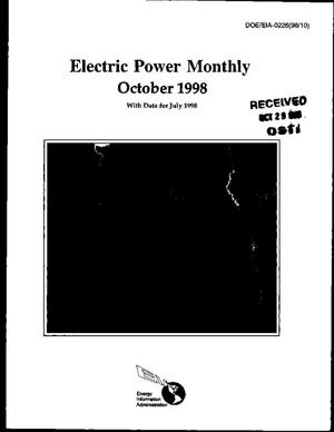 Primary view of object titled 'Electric power monthly, October 1998, with data for July 1998'.