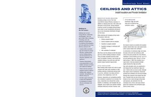 Primary view of object titled 'Ceilings and attics: Office of Building Technology, State and Community Programs (BTS) fact sheet'.