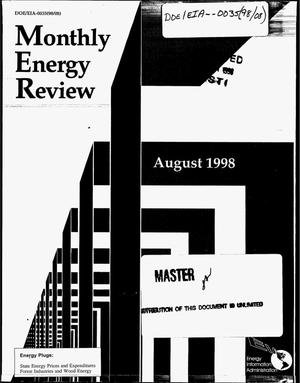Primary view of object titled 'Monthly energy review, August 1998'.