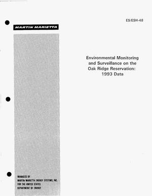 Primary view of object titled 'Environmental monitoring and surveillance on the Oak Ridge Reservation: 1993 Data'.
