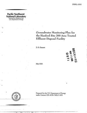 Primary view of object titled 'Groundwater monitoring plan for the Hanford Site 200 Area Treated Effluent Disposal Facility'.
