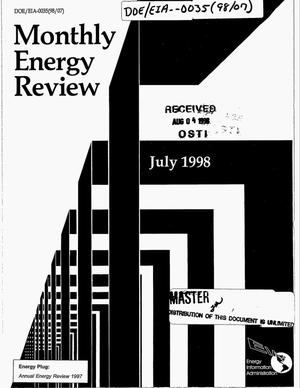 Primary view of object titled 'Monthly energy review, July 1998'.