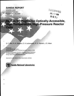 Primary view of object titled 'Design Strategies for Optically-Accessible, High-Temperature, High-Pressure Reactor'.