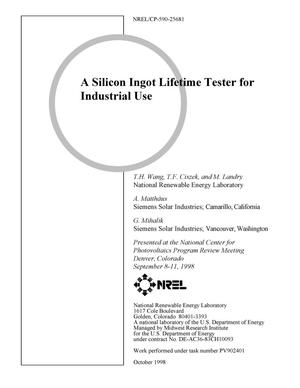 Primary view of object titled 'A Silicon Ingot Lifetime Tester for Large Crystals'.