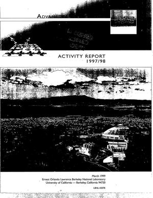 Primary view of object titled 'Advanced Light Source Activity Report 1997/1998'.