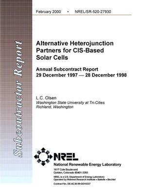 Primary view of object titled 'Alternative heterojunction partners for CIS-based solar cells: Annual subcontract report, 29 December 1997--28 December 1998'.