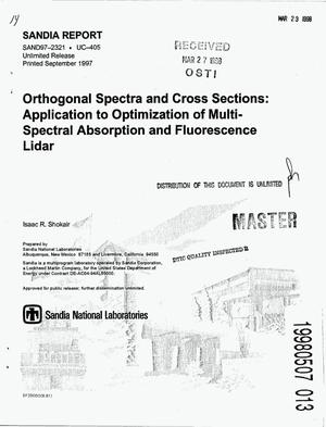 Primary view of object titled 'Orthogonal spectra and cross sections: Application to optimization of multi-spectral absorption and fluorescence lidar'.