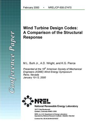 Primary view of object titled 'Wind turbine design codes: A comparison of the structural response'.