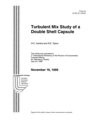 Primary view of object titled 'Turbulent mix study of a double shell capsule'.