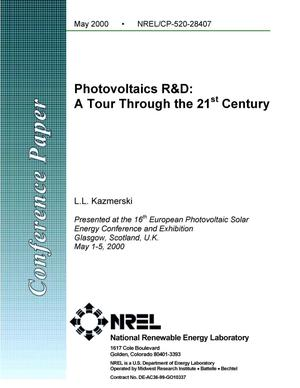 Primary view of object titled 'Photovoltaics R and D: A tour through the 21st century'.