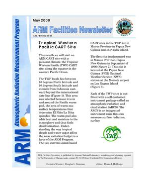 Primary view of object titled 'Atmospheric Radiation Measurement Program facilities newsletter, May 2000.'.