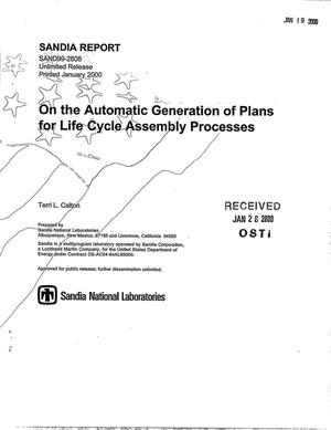 Primary view of object titled 'On the Automatic Generation of Plans for Life Cycle Assembly Processes'.