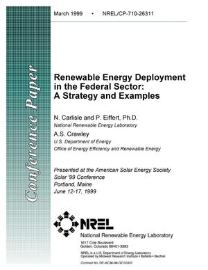 Primary view of object titled 'Renewable Energy Deployment in the Federal Sector'.