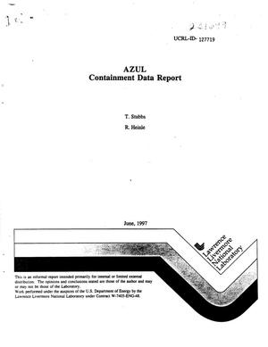 Primary view of object titled 'AZUL containment data report'.